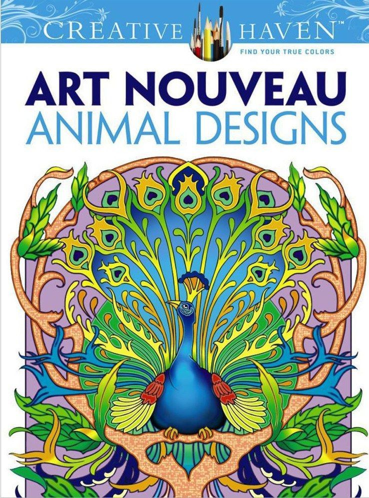 Art Nouveau Animal Designs Animal design and Coloring books - new animal coloring pages with patterns