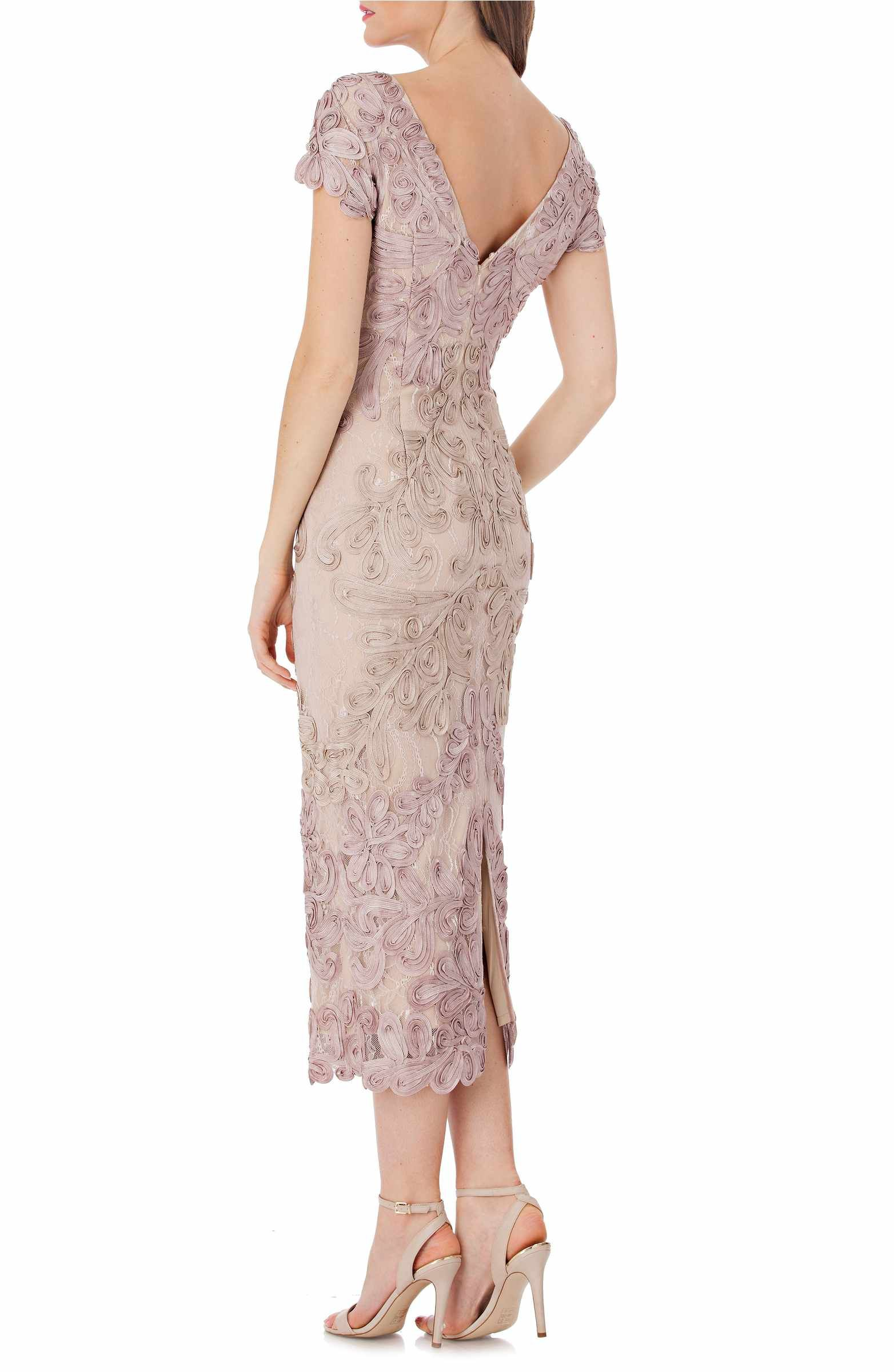 58399681cd6 Main Image - JS Collections Soutache Lace Midi Dress
