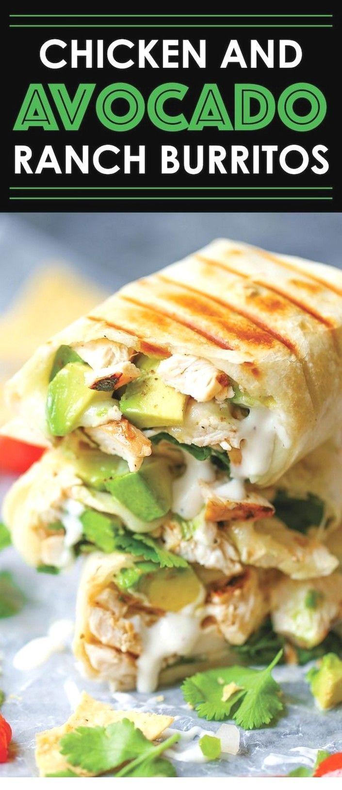 Chicken And Avocado Ranch Burritos | Avocado Recipes - Dinner - - Chicken And Avocado Ranch Burrito