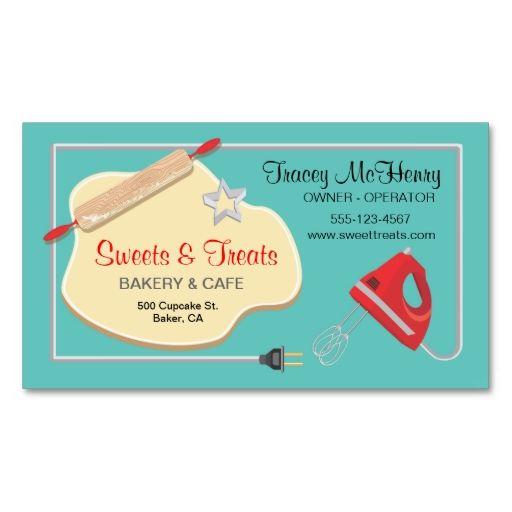 Retro Bakery Cookie Business Card Zazzle Com Bakery Business Cards Cookie Business Bakery Business Cards Templates