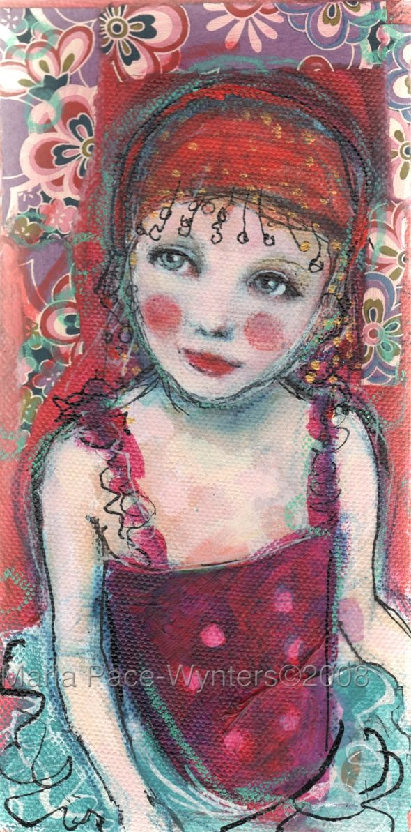 Circus girl, by Maria Pace-Wynters
