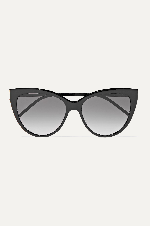 Black Cateye acetate sunglasses SAINT LAURENT in 2020