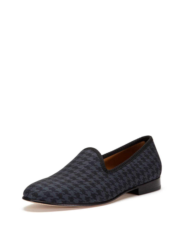 713e3dfa1b7 Prince Albert Houndstooth Canvas Slipper by Del Toro Shoes at Gilt. Men s  Shoe.
