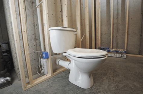 A Saniflo Upflush Toilet System Installed In Bat