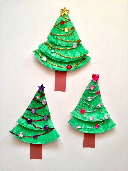 Paper Plate Christmas Tree Kids Craft Christmas Crafts For Kids Www
