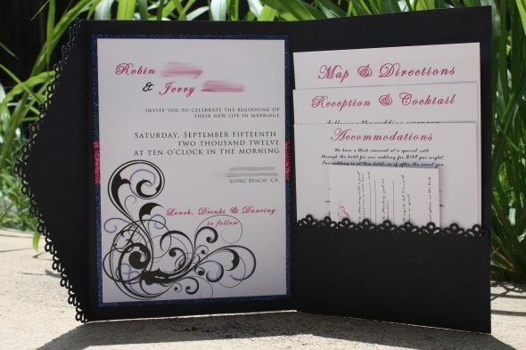 Purple And Blue Wedding Invitations: My DIY Invitations : Wedding Diy Invite Invitations Pink