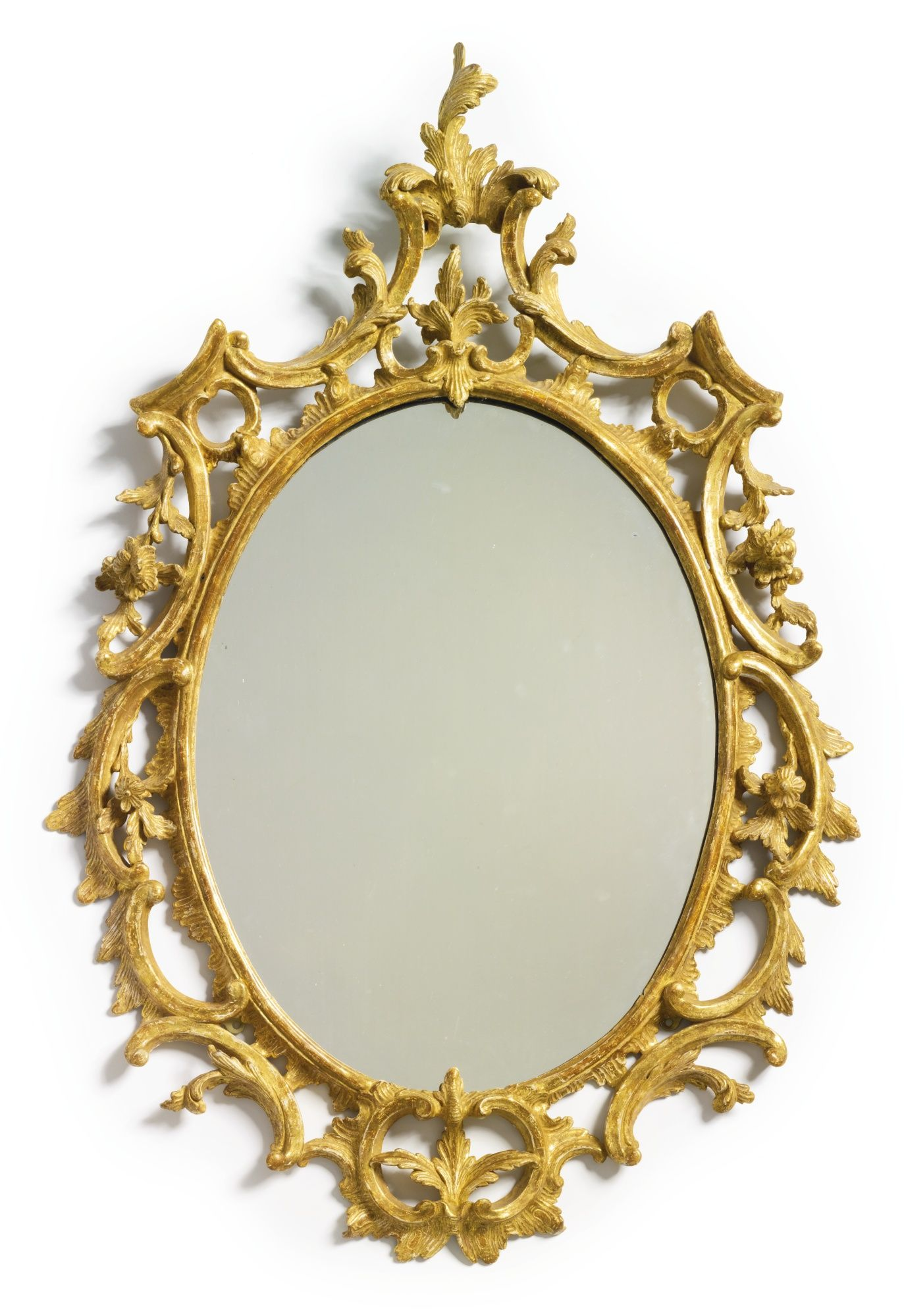 A George III giltwood oval mirror circa 1760 | Lot | Sotheby\'s ...