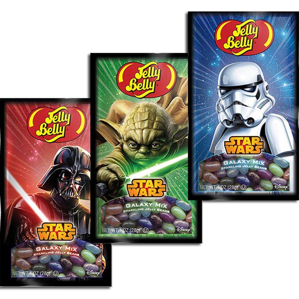 Star Wars 1 oz bags from Jelly Belly. Each bag features