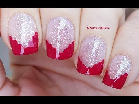 new year's eve chevron party french nail art  youtube