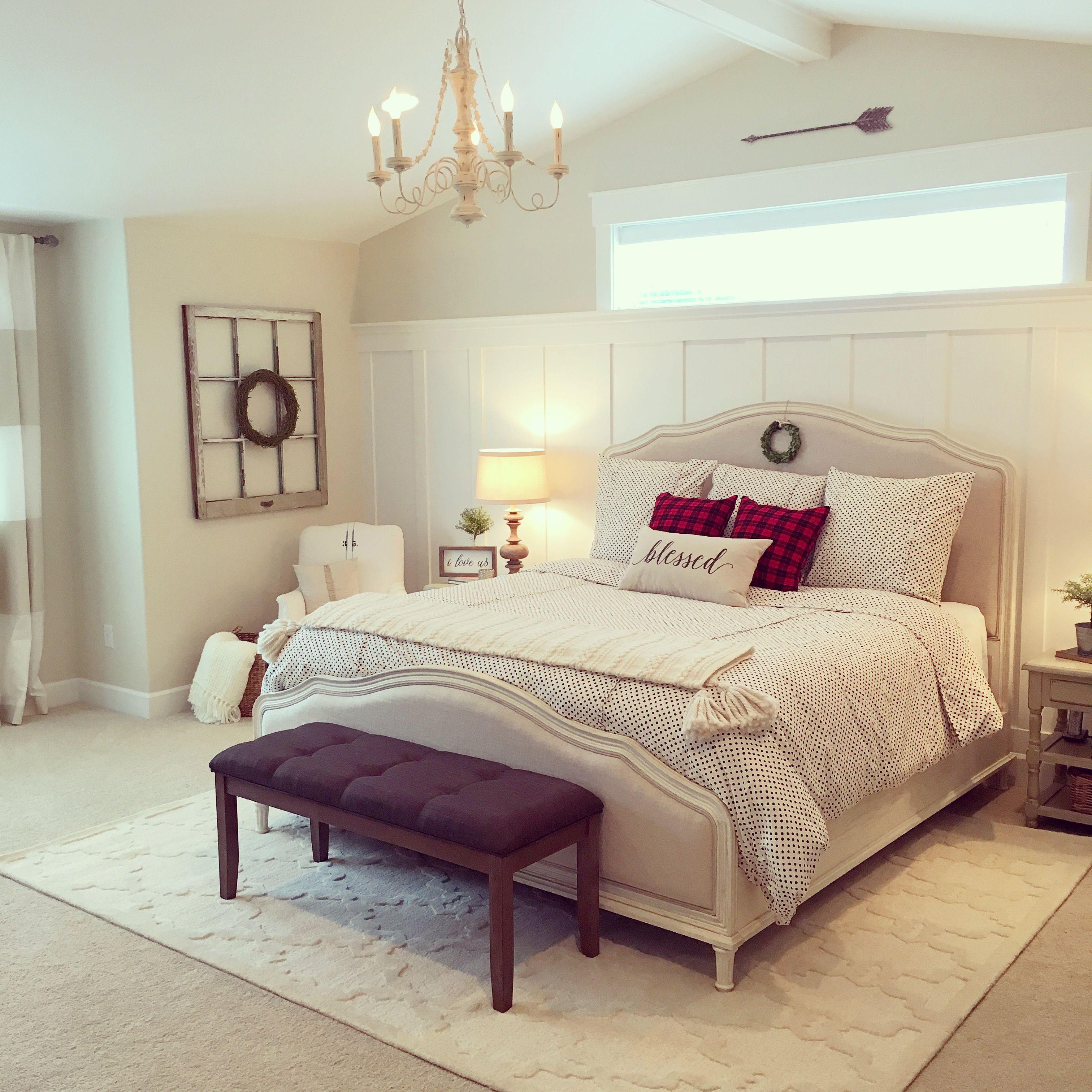 a cozy neutral master bedroom retreat in a modern on modern farmhouse master bedroom ideas id=35104