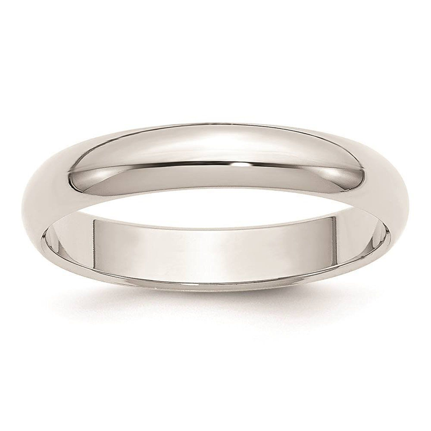 925 Sterling Silver 3mm Half Round Polished Milgrain Wedding Ring Band Available in Sizes 4-13 Full /& Half Sizes
