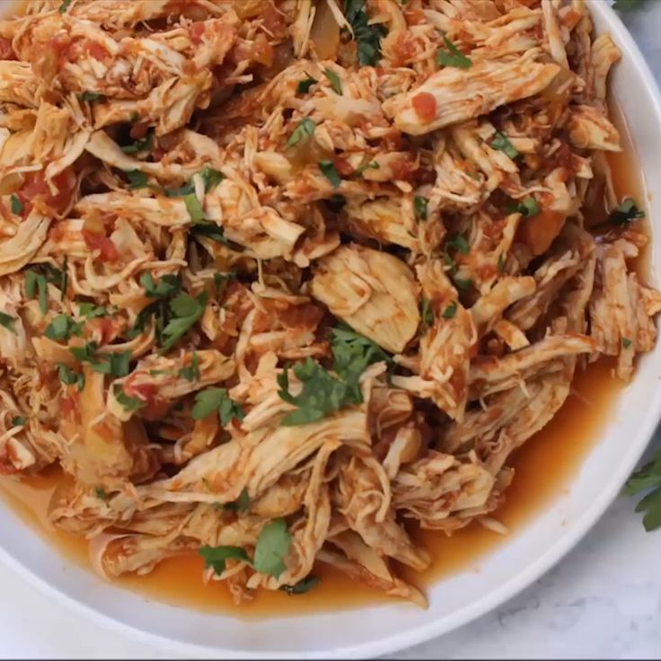 Slow Cooker Mexican Chicken #mexicanchickentacos