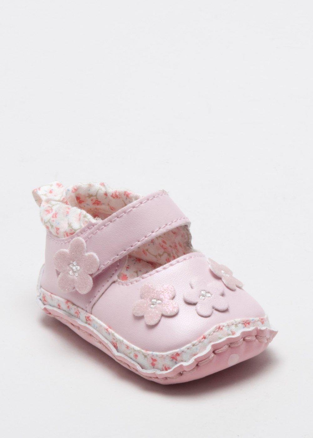Girls Miss Bunny Flower Pram Shoe (0