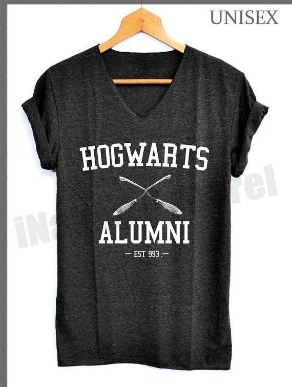 Hogwarts Alumni  EST933 Shirt Harry Potter Shirts V-Neck Unisex S M L