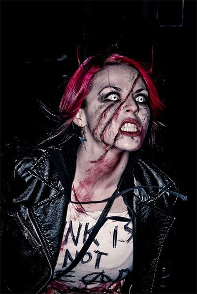 Cool Yet Scary Halloween Make Up Ideas  Looks For Girls 2013/ 2014 - terrifying halloween costume ideas