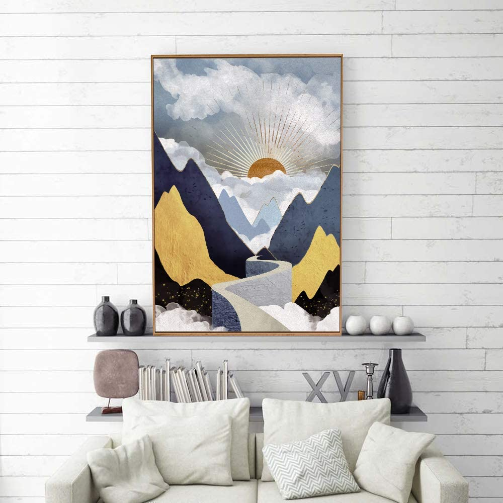 Amazon Com Signford Framed Canvas Home Artwork Decoration Nordic Style Abstract Color Canvas Wall Art For Li Framed Canvas Art Canvas Wall Art Living Room Art