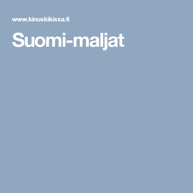Suomi-maljat
