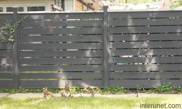 Wood-fence-horizontal-painted