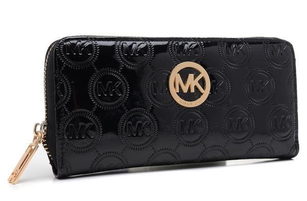 Michael Kors Jet Set Monogram Continental Wallet Black Products Description  * Patent leather with allover monogram
