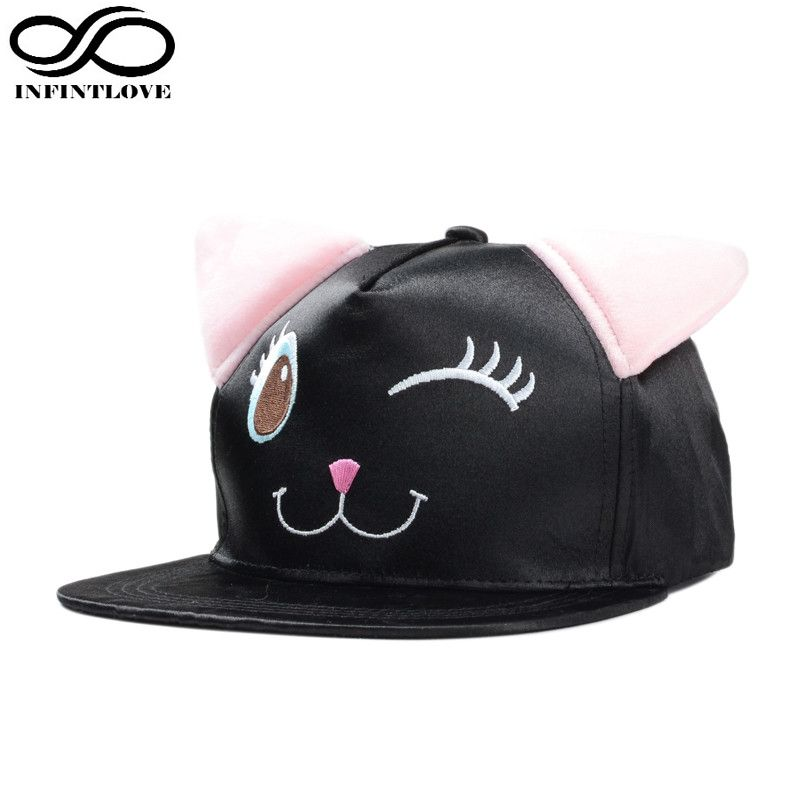 INFINITLOVE Fashion Personality Funny Cute Brow Men s Women s Sun Hat Big  Eyes Ears Cartoon Pig Embroidery 96e9b0086e7e
