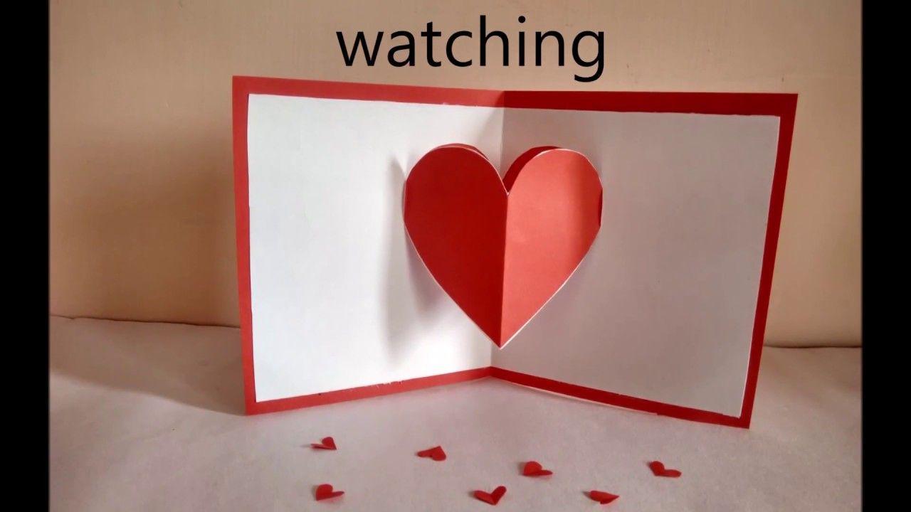 Heart Pop Up Card By Zainab Pop Up Valentine Cards Heart Pop Up Card Valentines Card Design