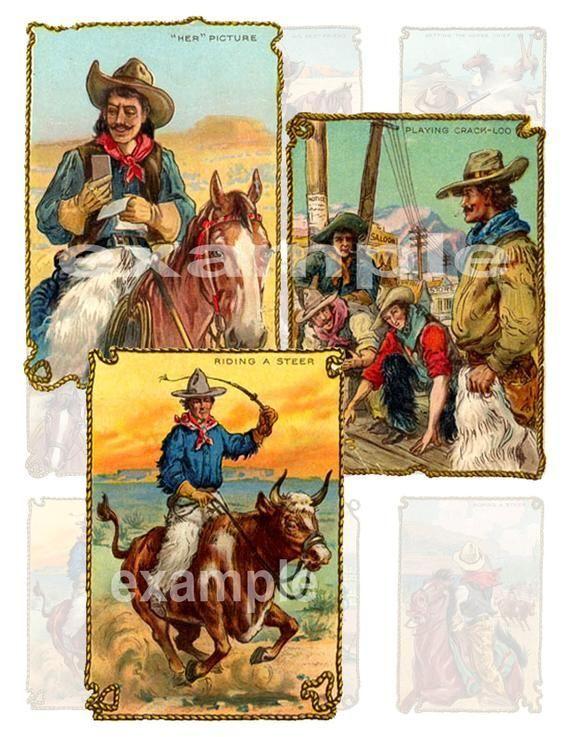 Vintage Cowboy Art...Western...Digital Collage Sheet 2 Vintage Cowboy Art...Western...Digital Collage Sheet 2        Vintage Cowboy Art...Western...Digital Collage Sheet 2