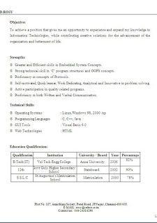 Standard Resume Format Sample Templateexcellent Curriculum Vitae