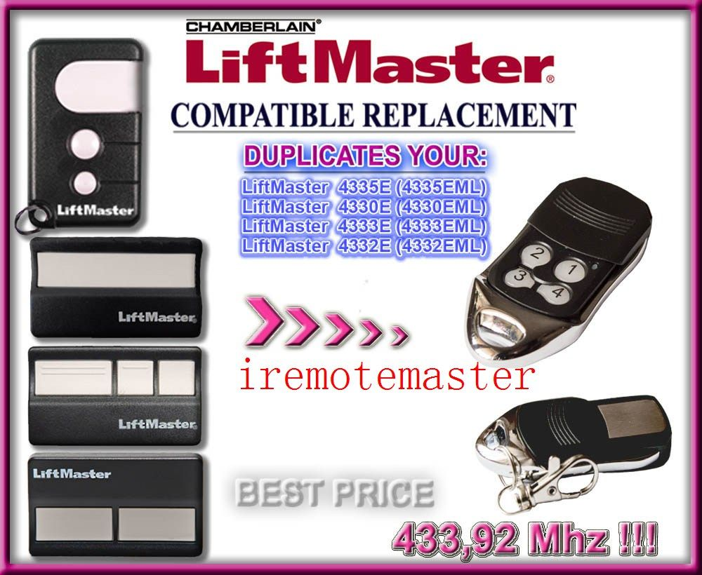 Dhl Free Shipping Liftmaster Replacement Remote 43392mhz Rolling