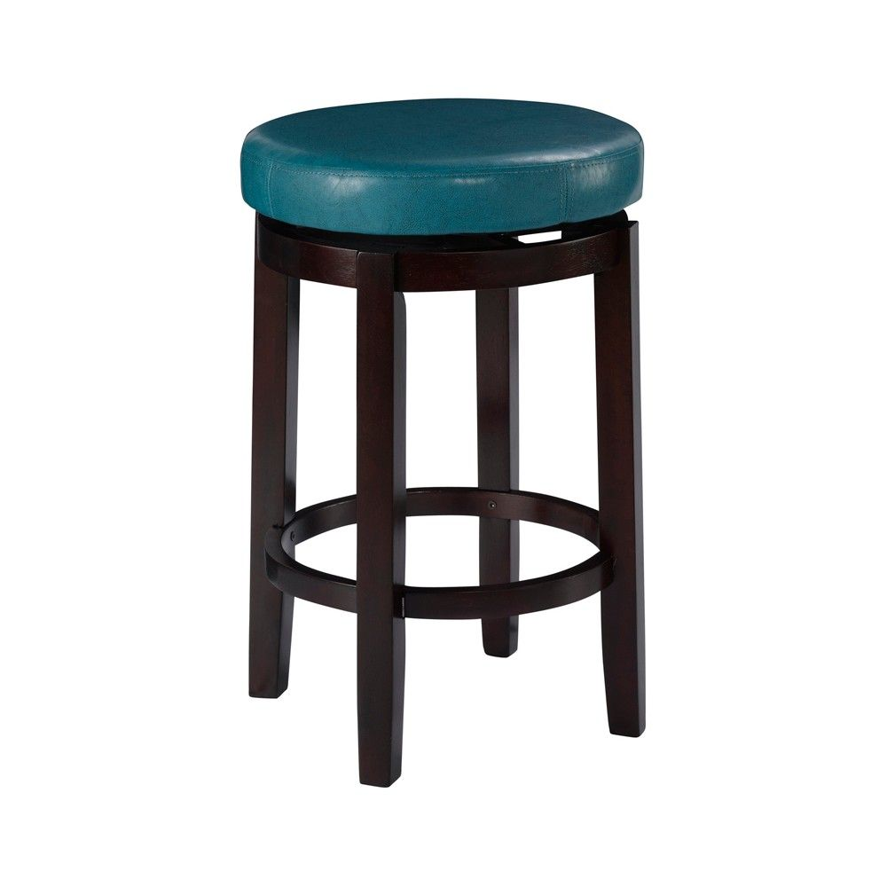 Admirable 24 Linon Maya Swivel Counter Stool Teal Blue Blue Ocoug Best Dining Table And Chair Ideas Images Ocougorg