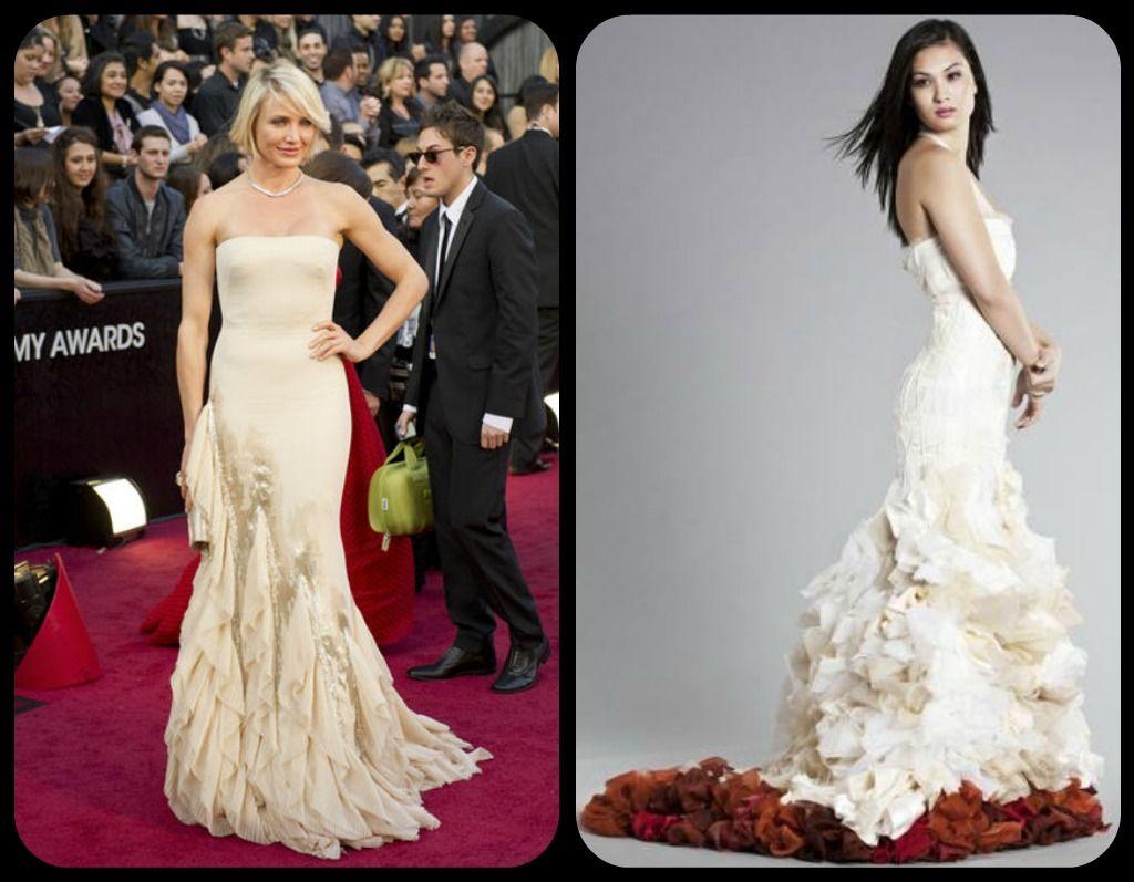 Cameron Diaz In Gucci Vs Wai Ching Bridal Celebrity Weddings
