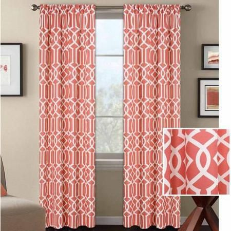 Home Coral Curtains Curtains Living Room Better Homes And Gardens