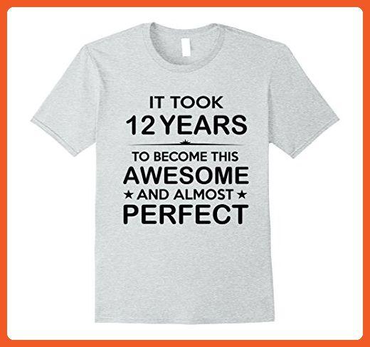 Mens Twelve 12 Year Old 12th Birthday Gift Ideas For Boy Girl 2xl Heather Grey Birthda 64th Birthday Gift Ideas 17th Birthday Gifts 34th Birthday Gift Ideas