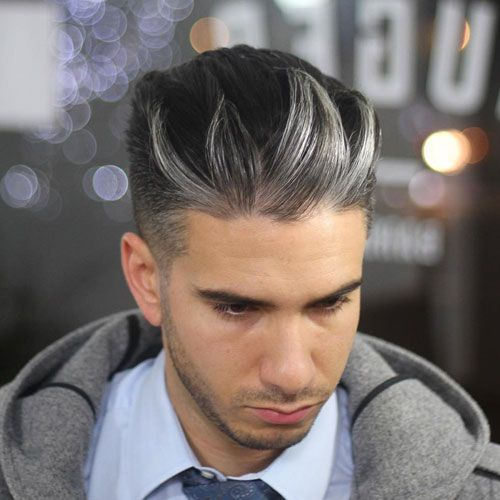 mens hair highlight styles best s hair highlights silver hair highlights 3579