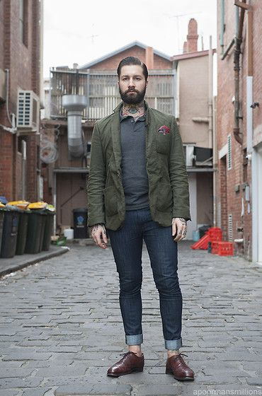 Honor Among Thieves Mao Blazer, Fred Perry Twin Tip Polo, Nudie Jeans Tapered Ted Jeans, Trickers Piccadilly Brogues