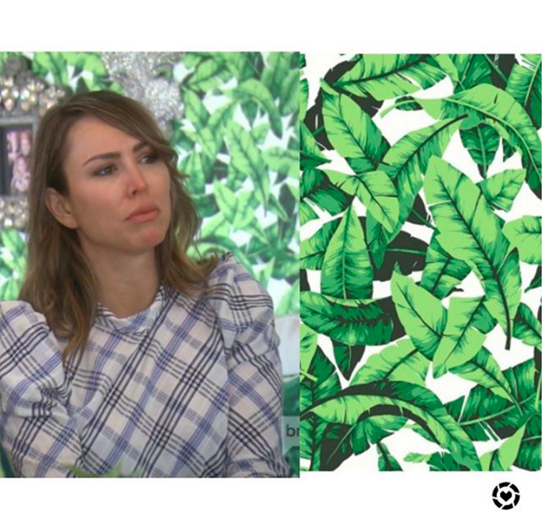 Kelly Dodd's Palm Leaf Peel and Stick Wallpaper https