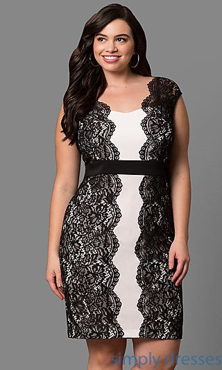 Black and White Plus Size Party Dresses