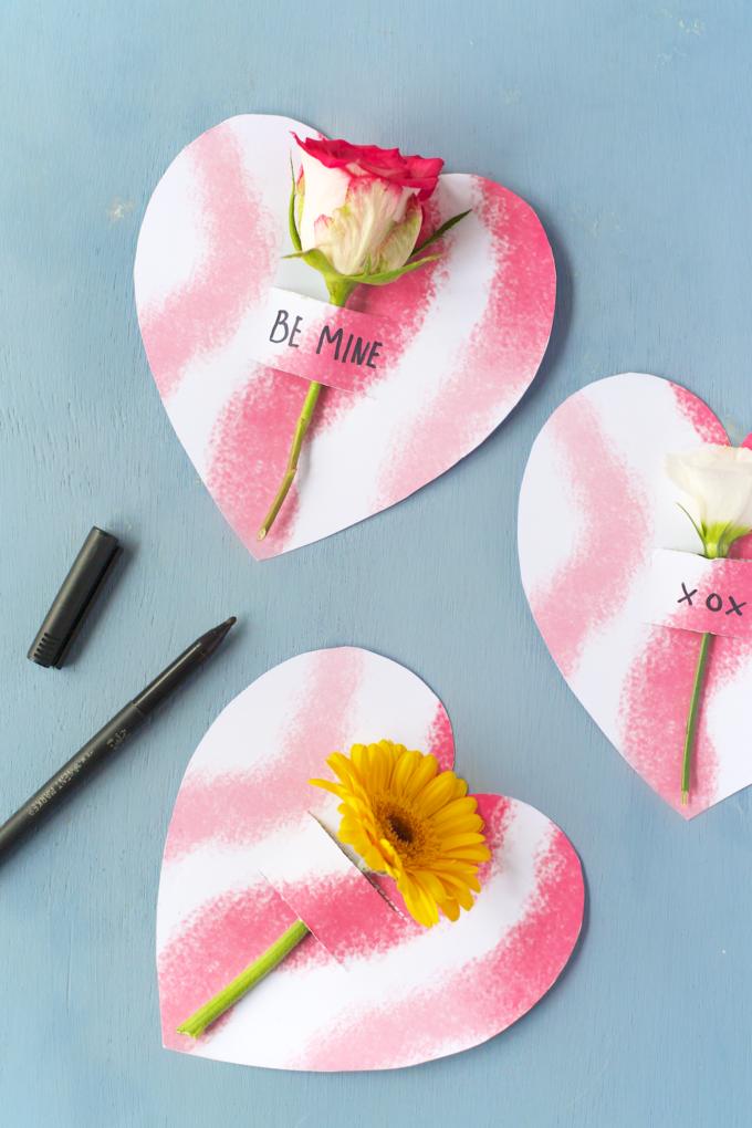 DIY Valentine flowernotes
