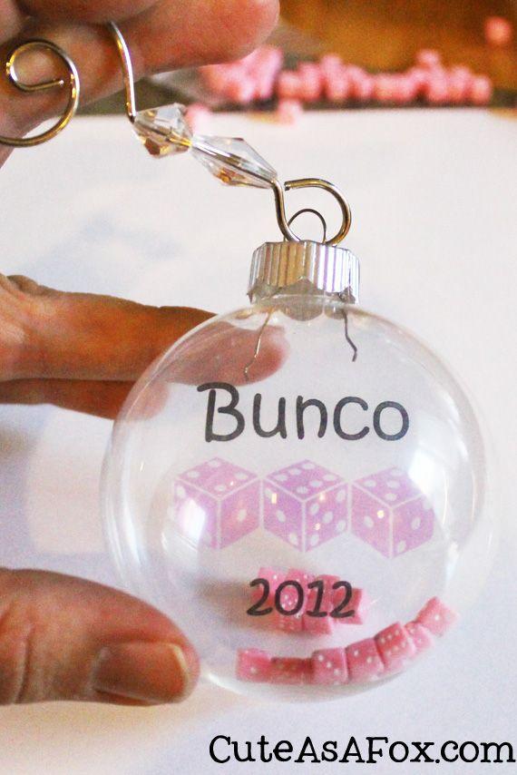 Cute As a Fox: Bunco Christmas Ornament - Bunco Christmas Ornament Bunco Pinterest Bunco Gifts, Bunco