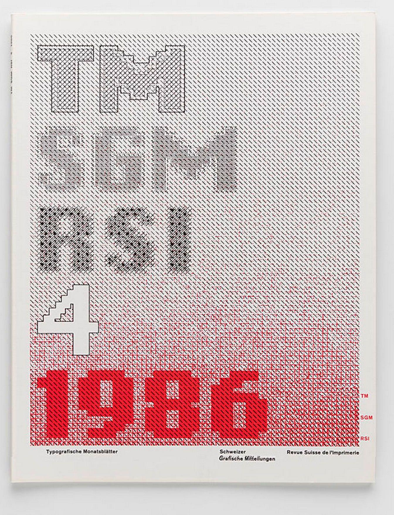 Swiss Print Review magazine, 1986 design by Wolfgang Weingart