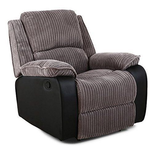 POSTANA JUMBO CORD FABRIC RECLINER ARMCHAIR SOFA LOUNGE HOME RECLINING CHAIR  (Grey) #reclinerchair | Recliner Chair | Pinterest | Recliner, Recliner ...
