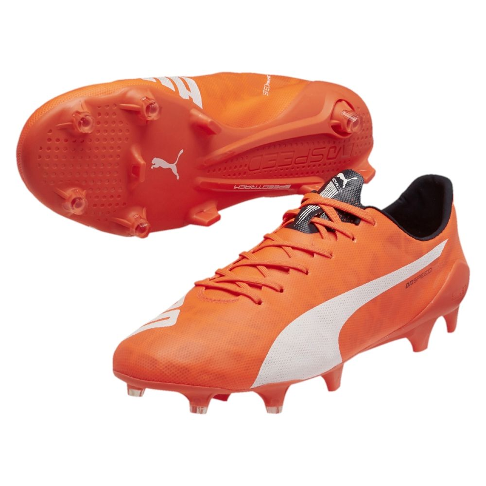 Puma evoPOWER 1 FG, Chaussures de football pour homme - Rouge - Red - Rot (fluro peach-ombre blue-fluro yellow 01), 39