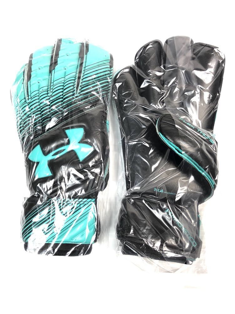 14d01d72bc13aa Under Armour UA Magnetico Soccer Goalkeeper Gloves Size 9 Black Teal NWT  $130 191480372449 | eBay #goaliegloves #underarmourgoaliegloves  #uagoaliegloves ...