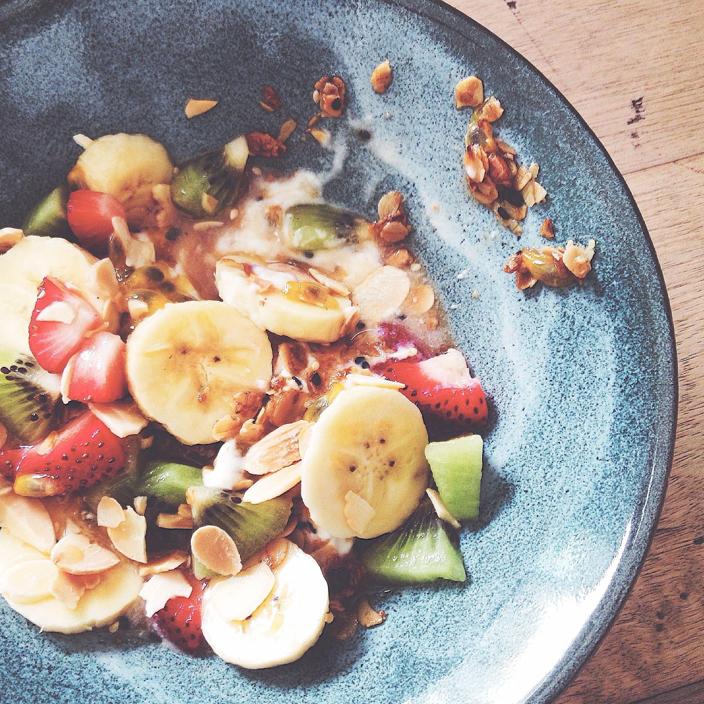 Yogurt Fruits Granola