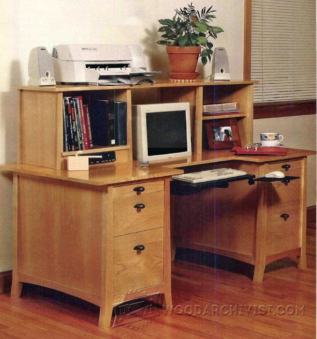 Computer Desk Plans - Furniture Plans and Projects | WoodArchivist ...