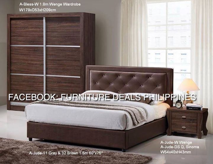 Furniture DEALS Philippines Exclusive!! Restock! Best Seller U0027 Limited  Stocks Only JUDE BEDROOM SET! *1 Queen Bed With Mattrees *1 1.8m Sliding  Wardrobe ...