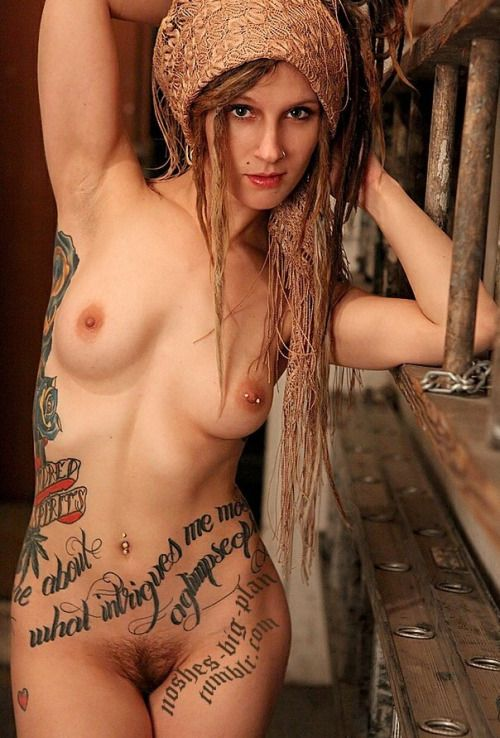 Nude wife with dreds