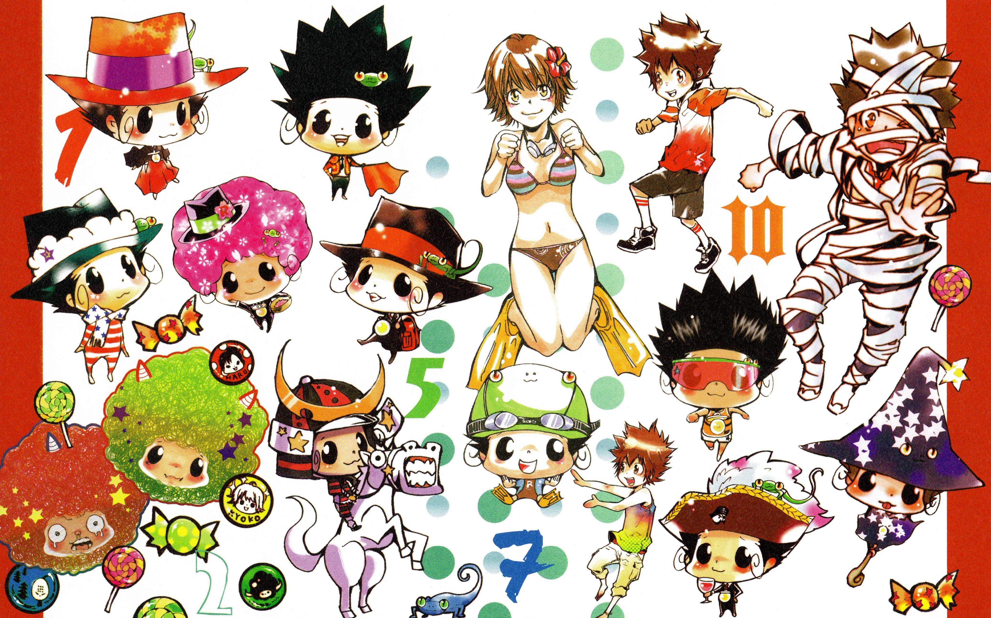 Amano Akira, Katekyo Hitman REBORN!, Colore!, Sawada Tsunayoshi, Sasagawa Kyoko, Lambo