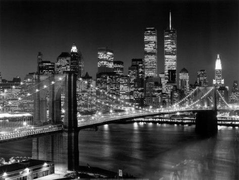 New York New York Brooklyn Bridge Print Henri Silberman Allposters Com City Wallpaper New York Skyline New York