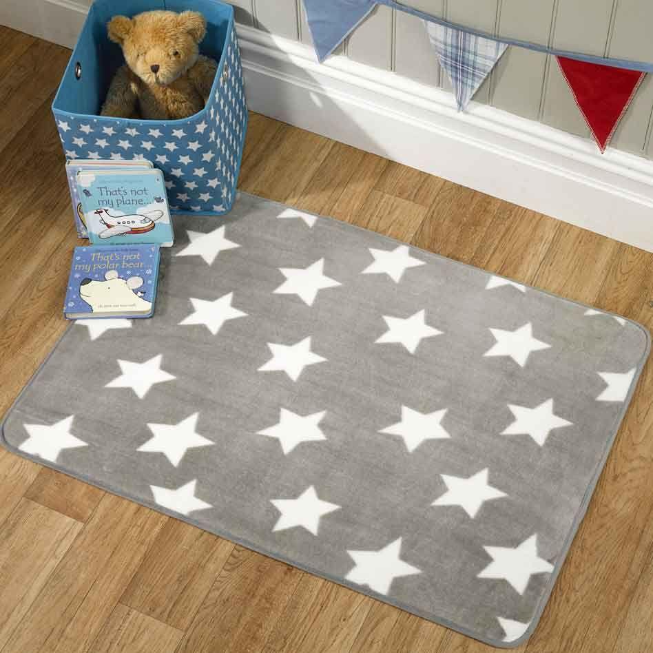 Kids Bedroom Rugs Uk gender neautral star nursery rug in grey | .habitaciones de