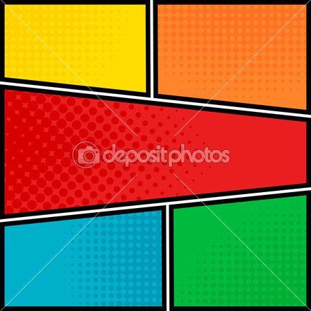 Šablona prázdné rozložení stylu pop-art komiks — Stock Vektor © hobonski #55386163
